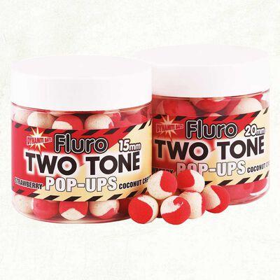 Bouillettes flottantes dynamite baits fluro two tone strawberry+coco - Flottantes | Pacific Pêche