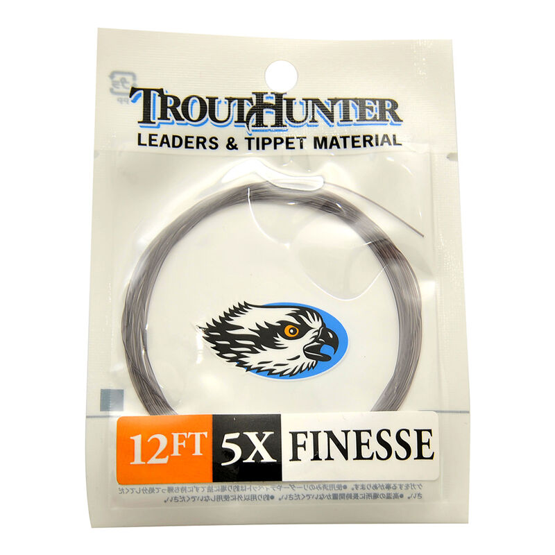 Bas de ligne mouche sans noeud trout hunter finesse leader 12' (3,65 m) - Sans Noeuds | Pacific Pêche