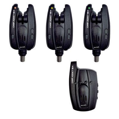 Coffret 3 détecteurs carpe mack2 carp addict sx alarm set + centrale - Coffrets détecteurs | Pacific Pêche