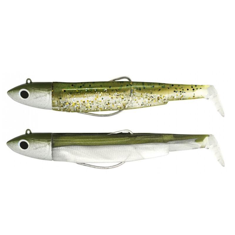 Leurre souple fiiish double combo (2 leurres montés) black minnow 90 shore 9cm 5g - Leurres souples | Pacific Pêche