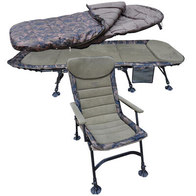 Pack confort mack2 levelchair + sleeping bag + bedchair camo - Packs | Pacific Pêche