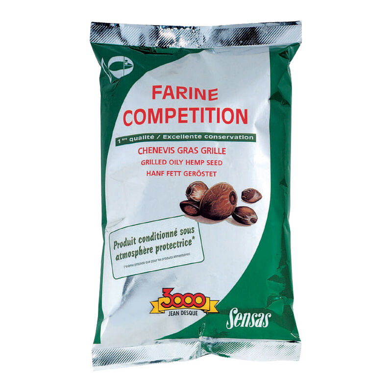 Farine sensas 3000 super chenevis grillé gras 550g - Farines | Pacific Pêche