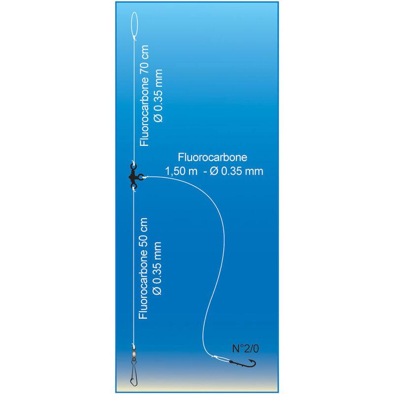 Bas de ligne mer flashmer long trainard - Bas de Lignes / Lignes Montées | Pacific Pêche