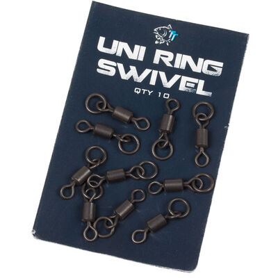 Emerillons à anneaux carpe nash uni ring swivel (x10) - Emerillons carpe | Pacific Pêche