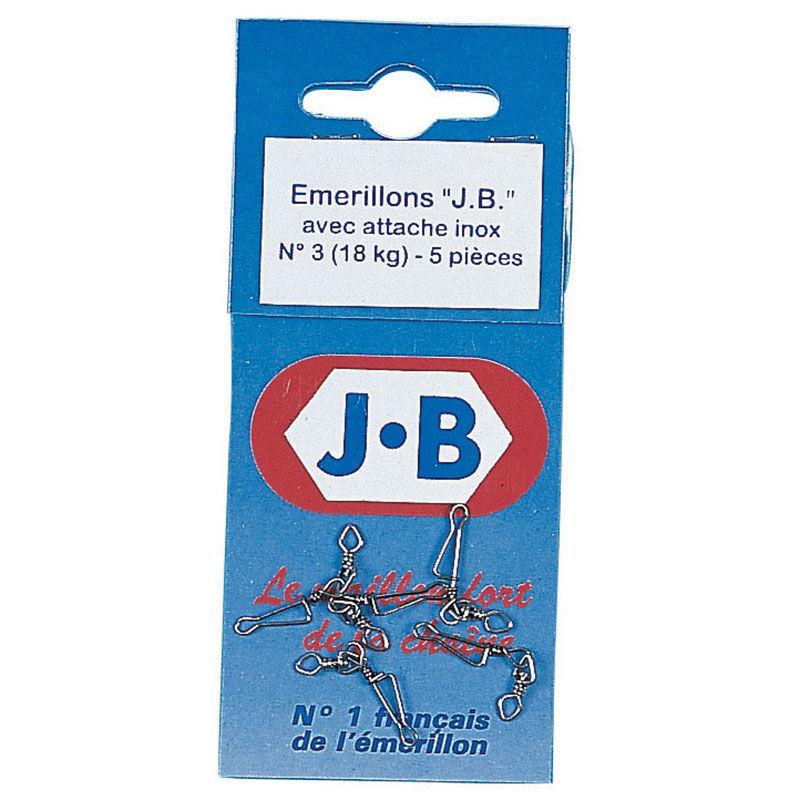 Émerillon à agrafe carnassier j.b inox (x5) - Emerillons | Pacific Pêche