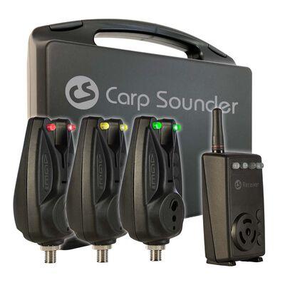 Coffret 3 détecteurs carpe carpsounder age-one + centrale - Coffrets détecteurs | Pacific Pêche