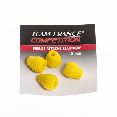 Perles d'attache elastique team france (4 par pochette) - Elastiques | Pacific Pêche
