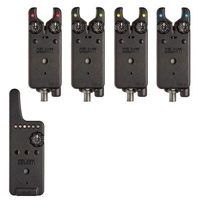 Pack 4 détecteurs carpe delkim txi-d + centrale rx-d (rouge, vert, jaune1 bleu) - Packs | Pacific Pêche