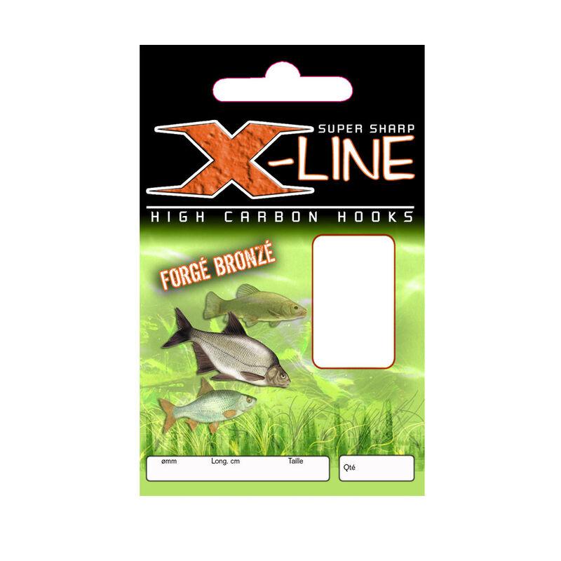 Hameçons montés coup x line forgé bronzé 40cm (x10) - Hameçons Montés | Pacific Pêche