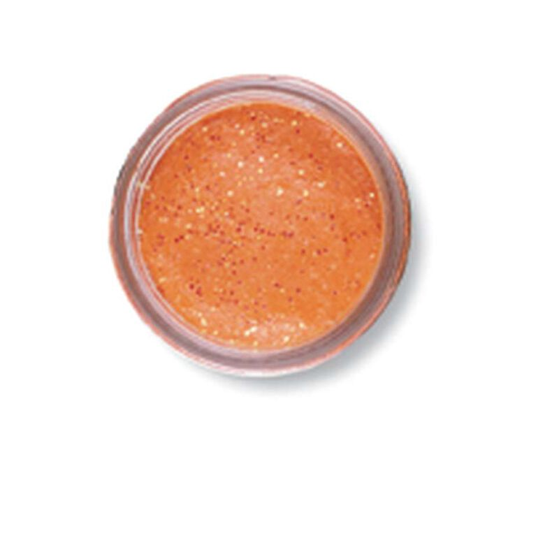 Pâte à truite berkley orange fluo pailletée 50g - Pâtes à truite | Pacific Pêche