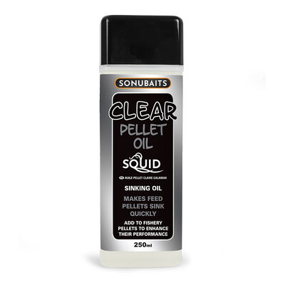 Additif liquide coup sonubaits clear pellet oil squid 250ml - Additifs | Pacific Pêche