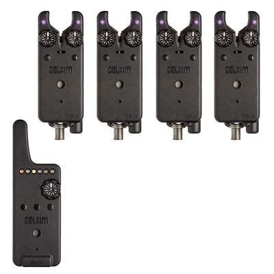 Pack 4 détecteurs carpe delkim txi-d + centrale rx-d (violet) - Packs | Pacific Pêche