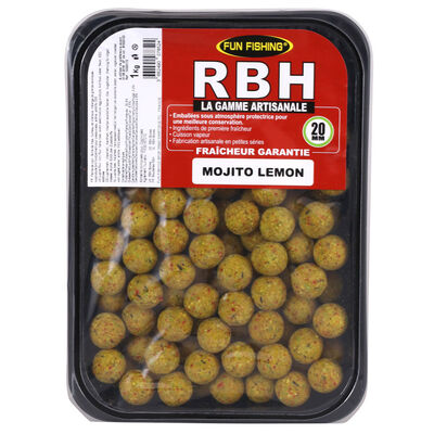 Bouillettes carpe fun fishing rbh boilies mojito lemon 20mm 1kg - Denses | Pacific Pêche