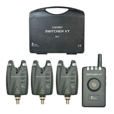Coffret 3 détecteurs carpe team carpfishing switcher vt + centrale - Coffrets détecteurs | Pacific Pêche