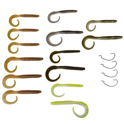 Kit 30 leurres souples worm savage gear + 17 accessoires - Worms | Pacific Pêche
