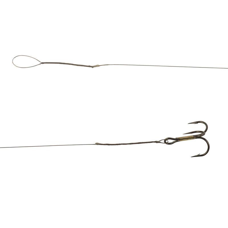 Avancon acier carnassier cannelle megaflex 40cm 7.5kg triple (x3) - Bas de ligne montés | Pacific Pêche