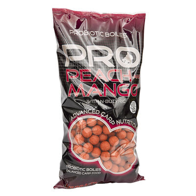 Bouillettes carpe probiotic peach / mango boilies 20mm - Denses | Pacific Pêche