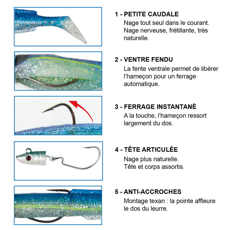 Leurre souple flashmer blue equille 18cm 55g - Leurres souples | Pacific Pêche
