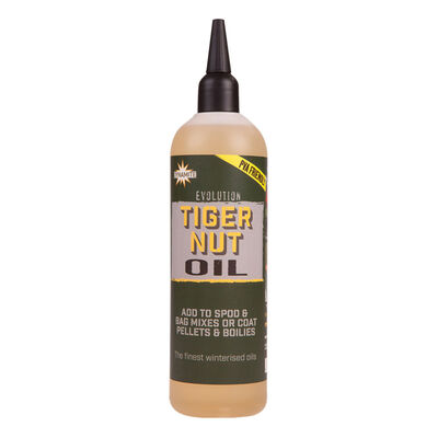 Huile carpe dynamite baits evolution oil monster tiger nut 300ml - Boosters / dips   Pacific Pêche