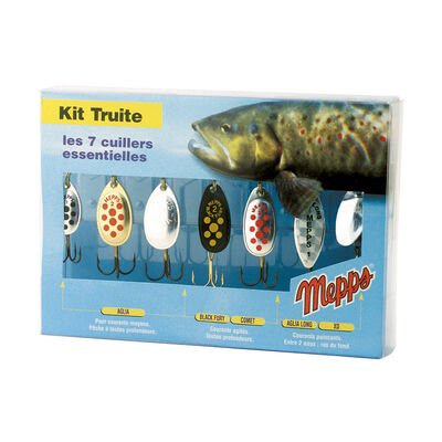Kit de cuillères tournantes carnassier mepps kit truite - Packs | Pacific Pêche