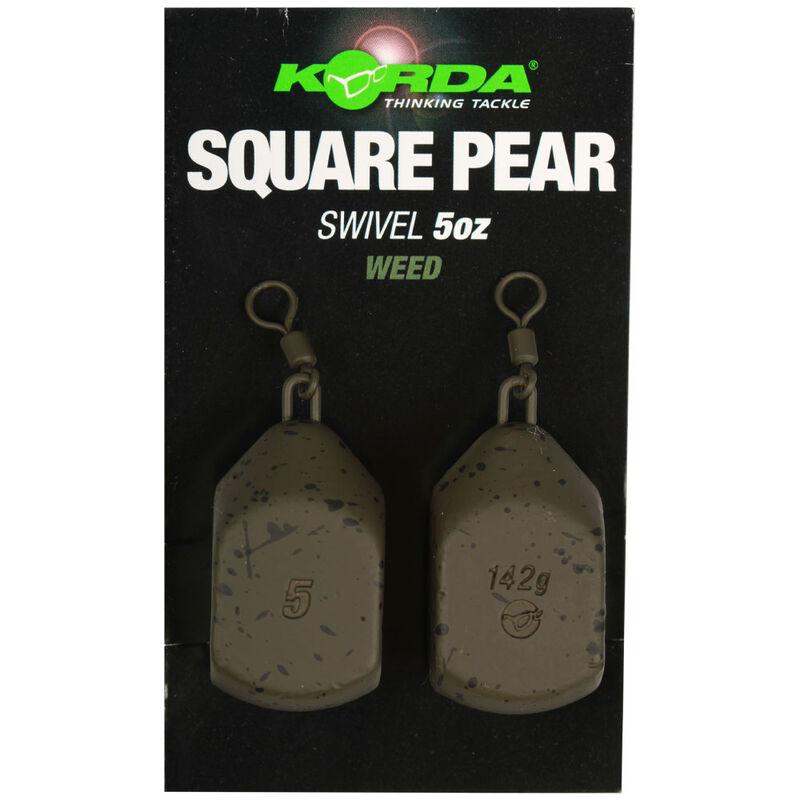 Plomb à émerillon korda square pear swivel (x2) - Emerillons | Pacific Pêche