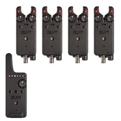 Pack 4 détecteurs carpe delkim txi-d + centrale rx-d (rouge) - Packs   Pacific Pêche