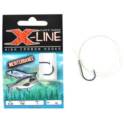 Hameçons montés mer x-line mediterranee (x10) - Hameçons Montés   Pacific Pêche