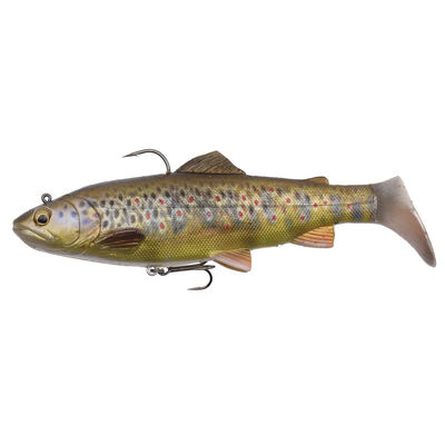 Leurre souple shad carnassier savage gear 4d rattle trout mod sink 12.5cm 35g - Leurres shads | Pacific Pêche