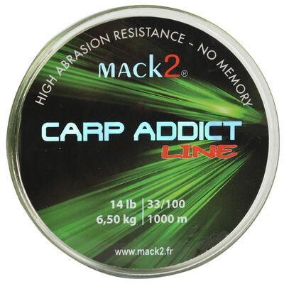 Nylon carpe mack2 carp addict line 1000 m - Monofilament | Pacific Pêche