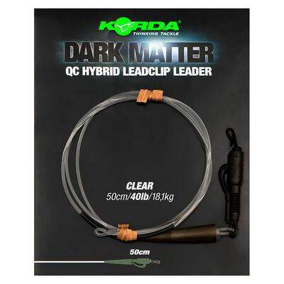 Leader korda dark matter leader 50cm qc hybrid clip - Leaders | Pacific Pêche