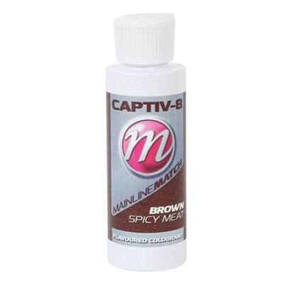 Colorant à pellet mainline match captiv-8 additive brown spicy meat 250ml - Additifs   Pacific Pêche