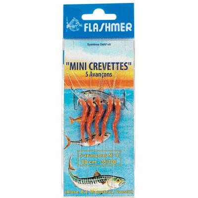 Bas de ligne flashme 5r mini-crevettes hameçons n°4 - Bas de Lignes / Lignes Montées | Pacific Pêche