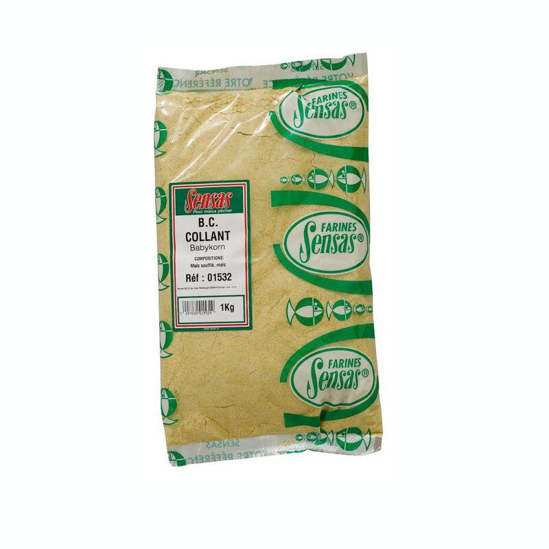 Farine sensas classique baby corn collant 1kg - Farines | Pacific Pêche