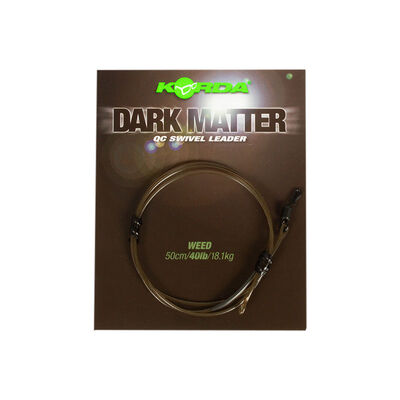 Leader korda dark matter 50cm qc swivel - Leaders | Pacific Pêche