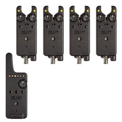 Pack 4 détecteurs carpe delkim txi-d + centrale rx-d (jaune) - Packs | Pacific Pêche