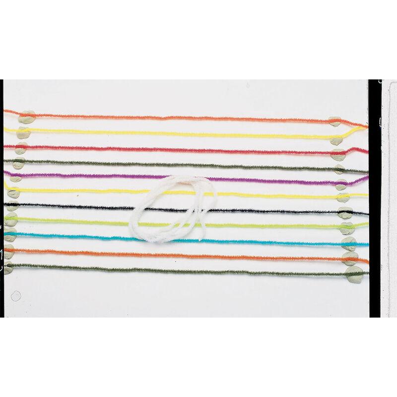 Fly tying jmc grosse chenille velour assortiment 8 coloris - Chenilles | Pacific Pêche