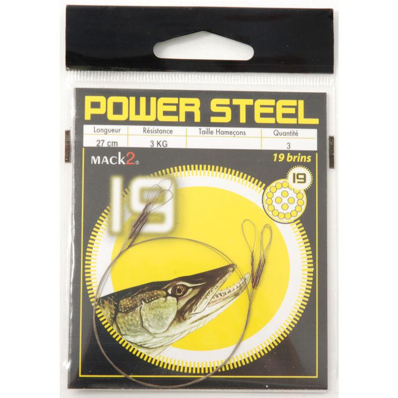 Bas de ligne acier carnassier x-line power steel 19 brins 27cm (x3) - Bas de ligne montés | Pacific Pêche