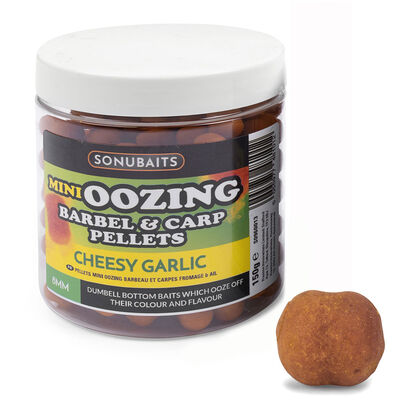 Pellets d'eschage coup sonubaits mini oozing barbel & carp pellets cheesy garlic 150g - Eschage | Pacific Pêche