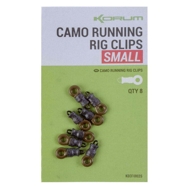 Rig clips korum camo running - Emerillons / Agrafes / Perles   Pacific Pêche
