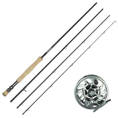 Ensemble mouche canne silverstone blackbone 9' soie 8-9 + moulinet r-stream 79 black - Cannes | Pacific Pêche