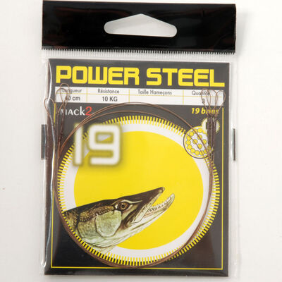Bas de ligne acier carnassier x-line power steel 19 brins 40cm (x3) - Bas de ligne montés | Pacific Pêche