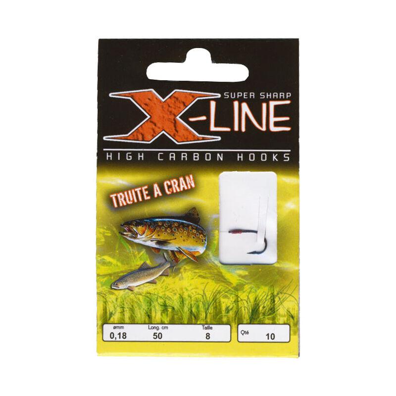 Hameçon monté truite x-line hm à cran (x10) - Hameçons montés | Pacific Pêche