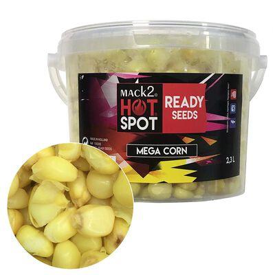 Graine cuite carpe mack2 ready made mega corn 2.3l - Prêtes à l'emploi | Pacific Pêche