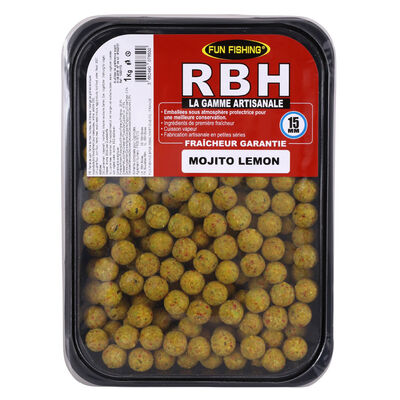 Bouillettes carpe fun fishing rbh boilies mojito lemon 15mm 1kg - Denses | Pacific Pêche