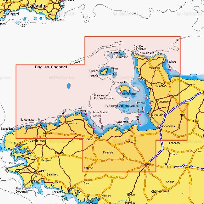 Carte navionics gold small 2 ile de batz/ carentan - Acc. Electonique | Pacific Pêche