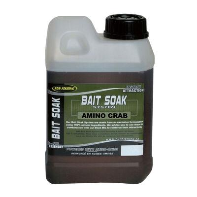 Liquide de trempage carpe fun fishing bait soak system amino crab 1l - Liquides de trempage | Pacific Pêche