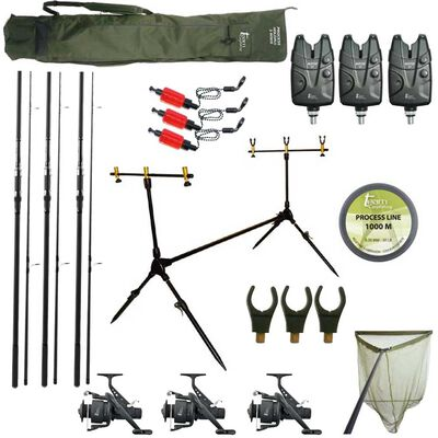 Pack complet carpe team carpfishing process 3 cannes - Packs | Pacific Pêche