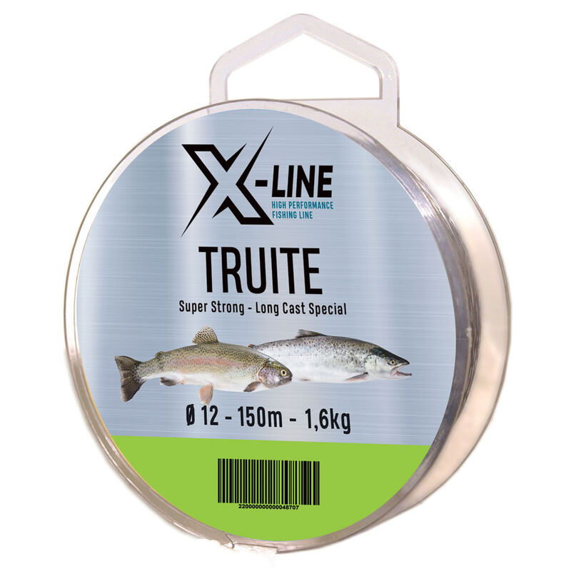 Fil nylon x-line truite 150 m - Fils-nylons | Pacific Pêche