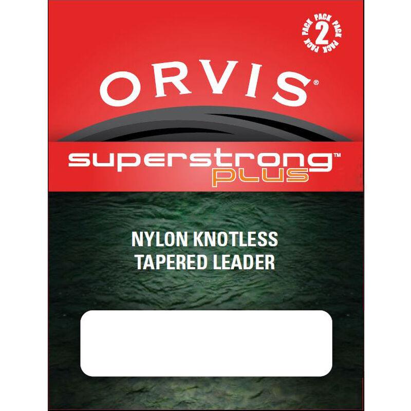 Bas de ligne mouche orvis sans noeud super strong plus leader 12' (3,65 m) pack de 2 - Sans Noeuds   Pacific Pêche