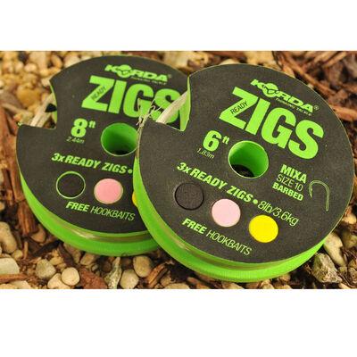 Montage zig rig carpe korda ready zigs taille 10 (x3) - ZIG | Pacific Pêche
